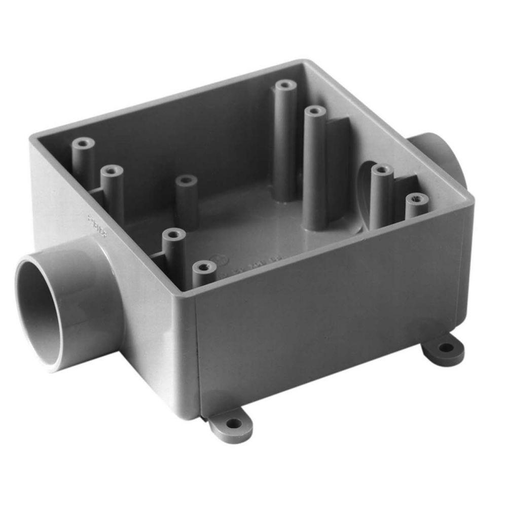 Outdoor Weatherproof FSC PVC Double Gang Device Box � 3/4 In