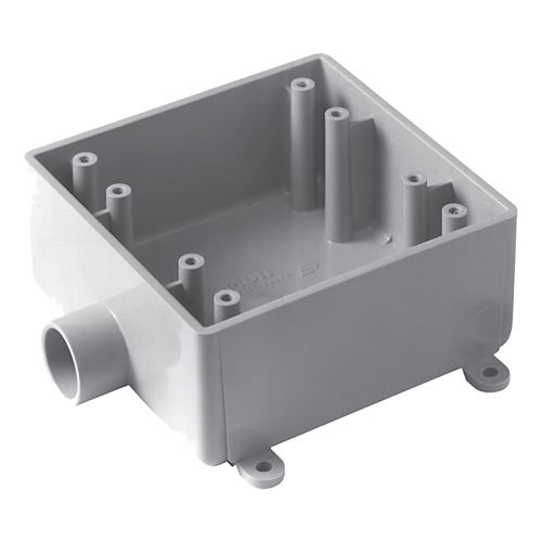 Carlon Outdoor Weatherproof FSE Double Gang PVC Device Box  3/4 In