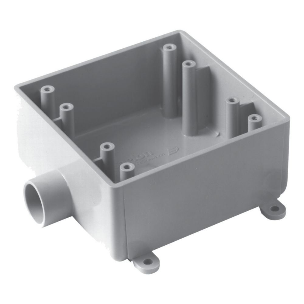 Outdoor Weatherproof FSE Double Gang PVC Device Box � 1/2 In