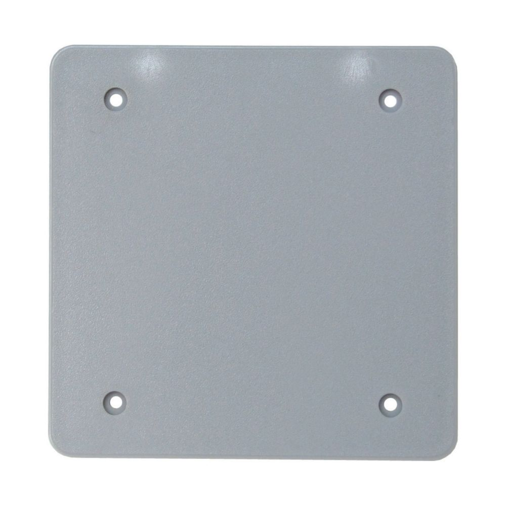 Outdoor Weatherproof  PVC Double Gang Blank Cover