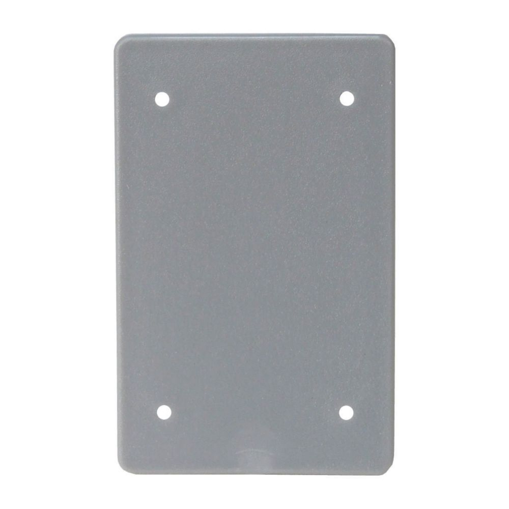 Weatherproof Single Gang Blank PVC Cover