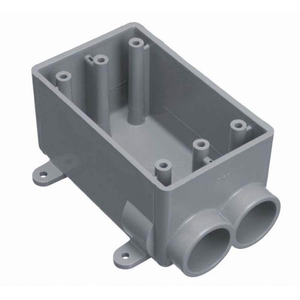 Outdoor Weatherproof FSS Single Gang PVC Device Box � 1/2 In