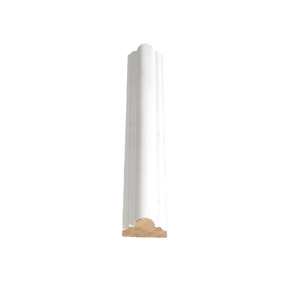 Primed Finger Jointed Pine Decorative Milliliters dg/Astragal 9/16 In. x 1-1/8 In. x 8 Ft.