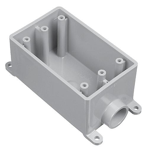 Outdoor Weatherproof FSE Single Gang PVC Device Box  1/2 In