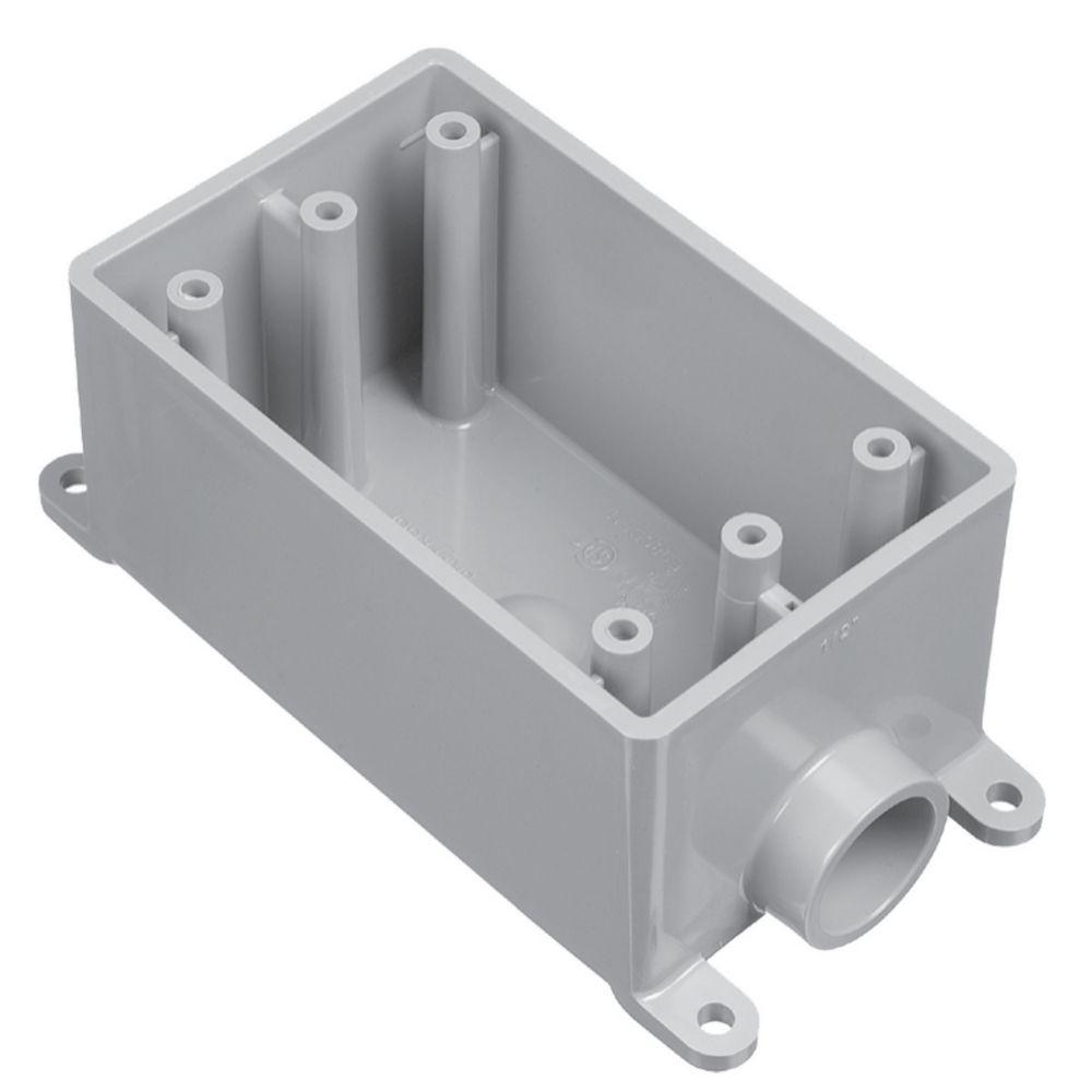 Outdoor Weatherproof FSE Single Gang PVC Device Box � 1/2 In
