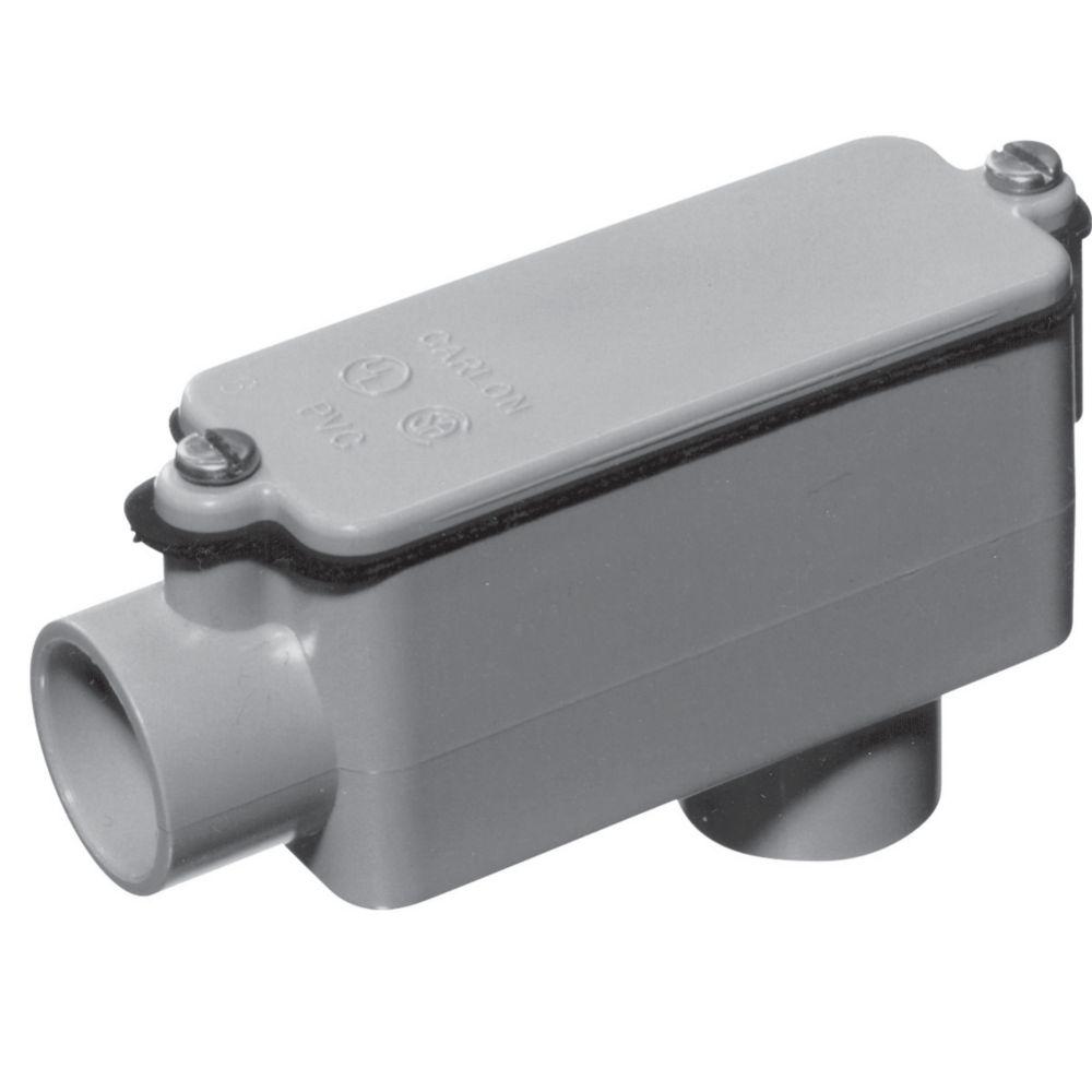 Schedule 40 PVC LB Shaped Conduit Body � 1-1/2  In