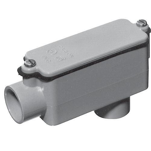 Raccord De Dérivation En PVC Schedule 40 De Type LB –  1-1/2 Pouces