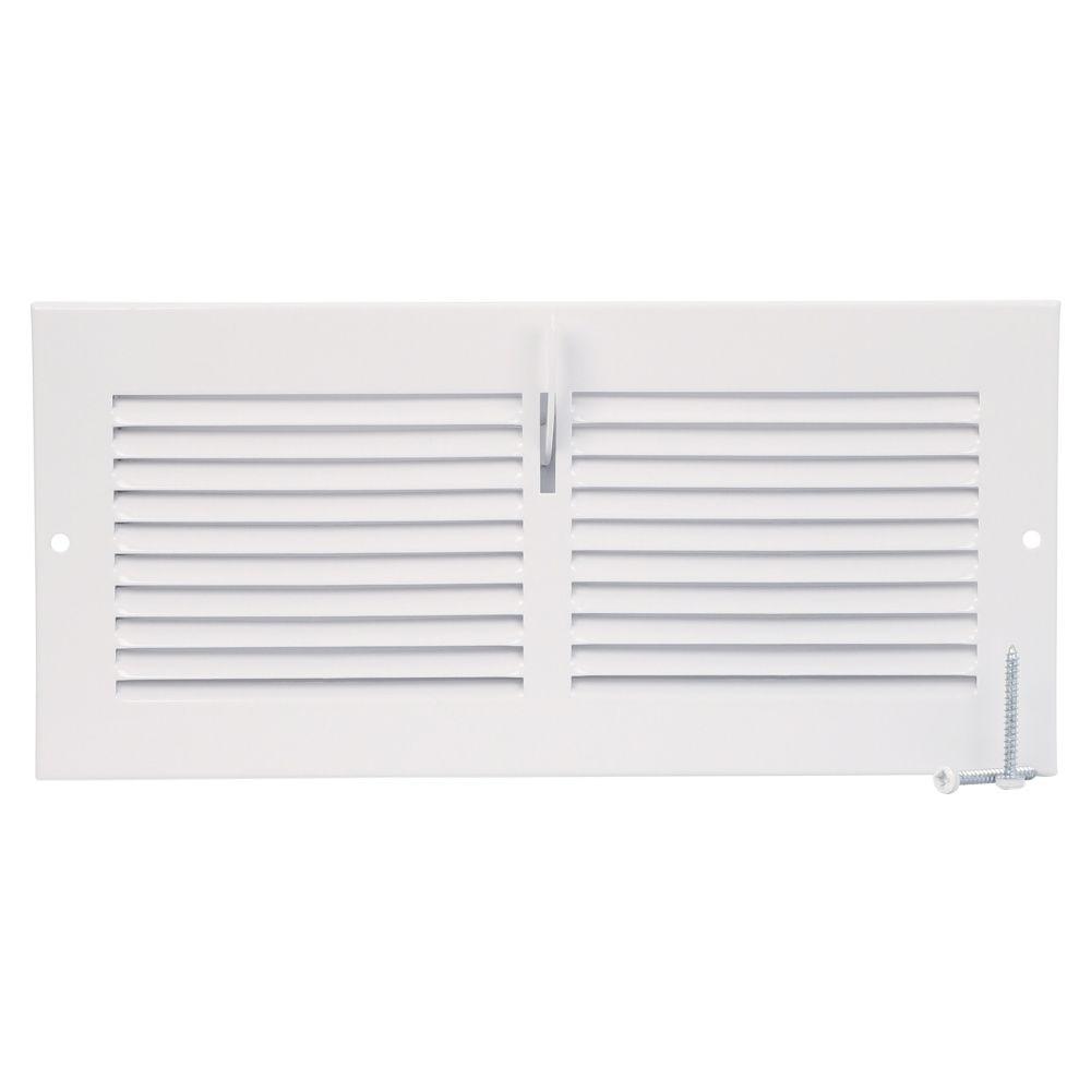 10  x 4  Sidewall Register - White