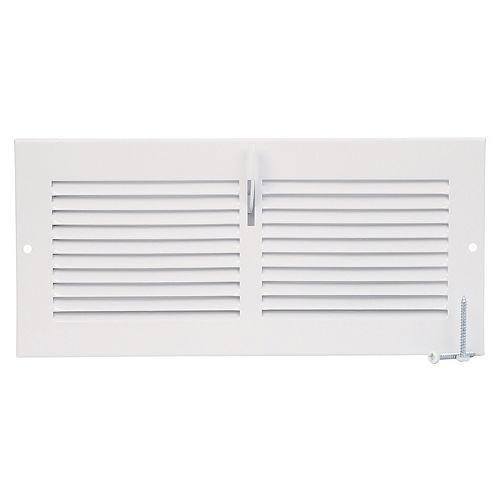 HDX 10 inch x 4 inch Sidewall Register - White