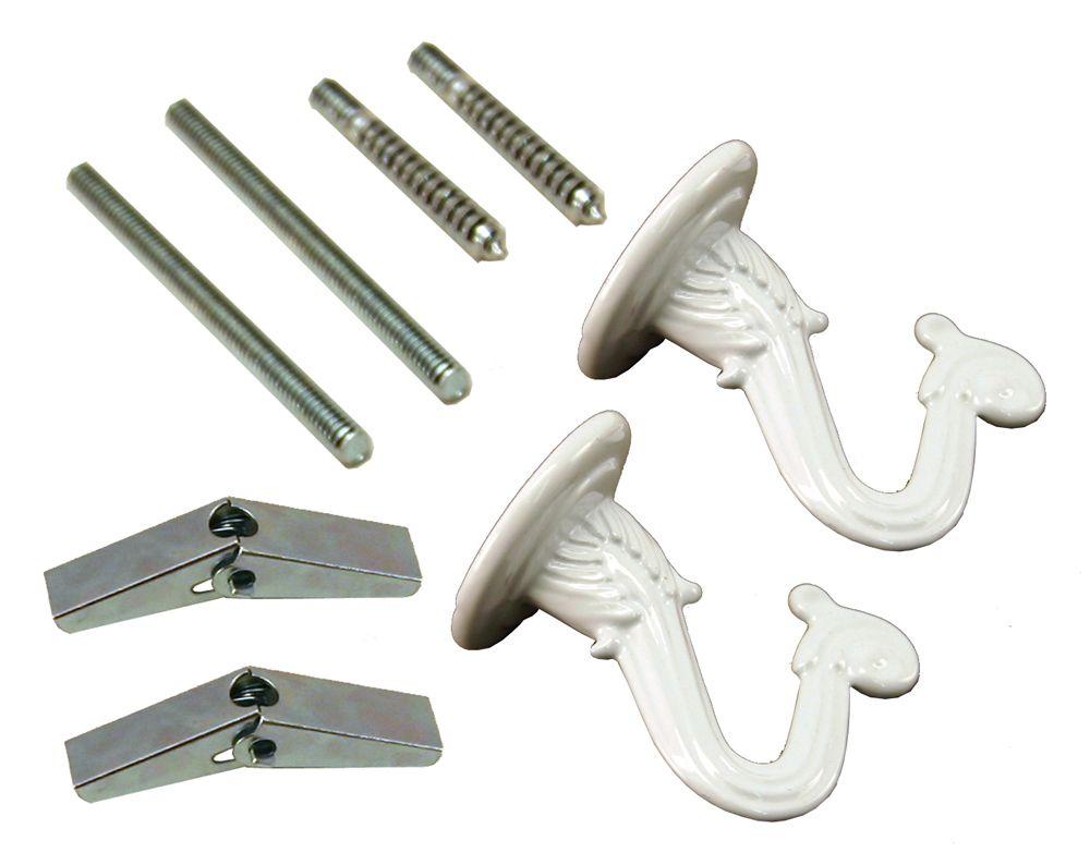 Crochets de suspension blancs - 2 PC / Paquet