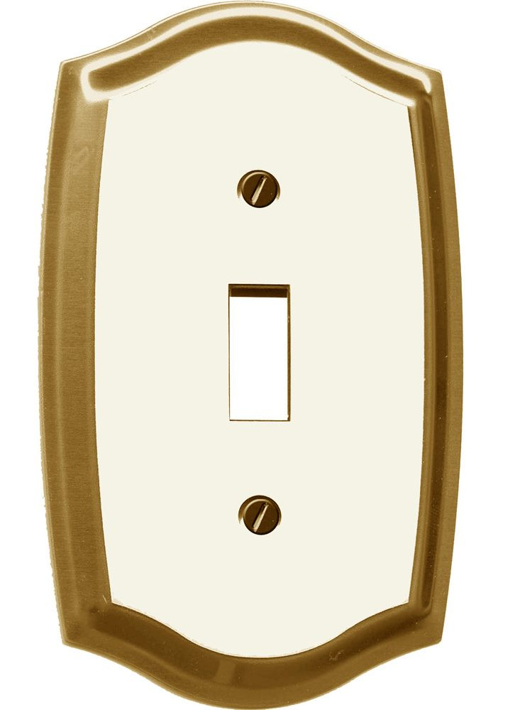 Regal Brass & White Toggle