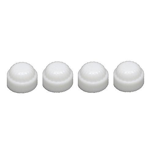 White Plastic Caps - (4-Pack)