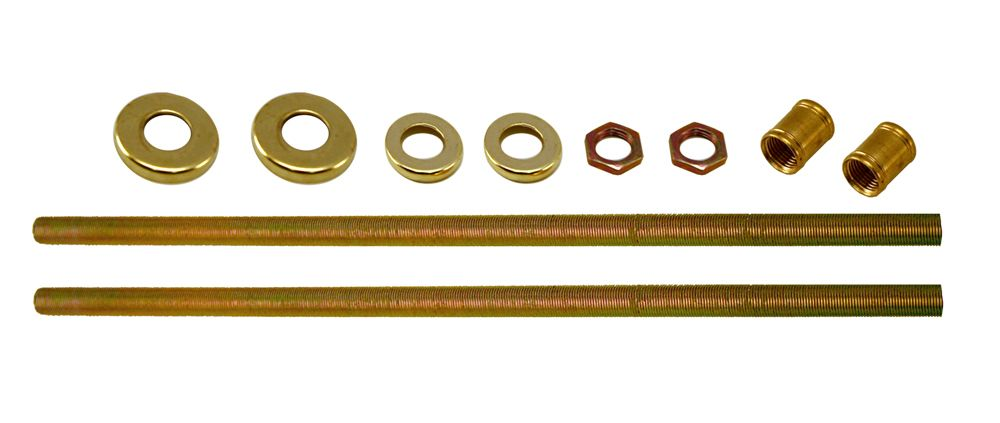 Brass Threaded Rods, 12 Inch (30.5 cm) - 2 Piece