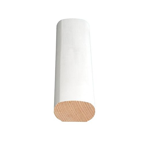 Alexandria Moulding Primed Finger Jointed Pine Handrail 1-1/4 In. x 2-1/8 In. (Price per linear foot)