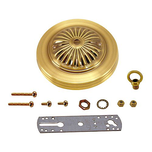 Atron Bright Brass Deluxe Canopy Kit