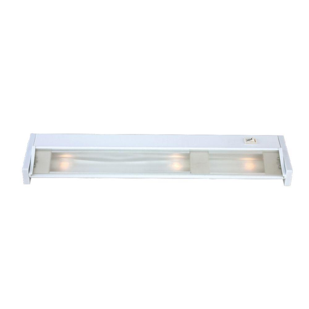 White Undercabinet Adjustable Light Fixture