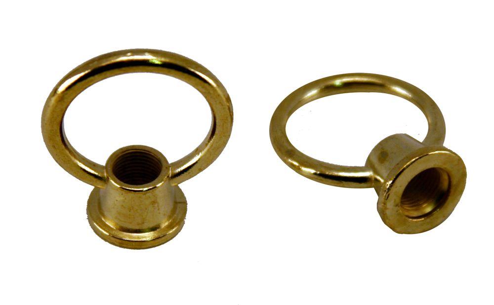 Bright Brass Loops - 1 1/2 Inch (3.8 cm)