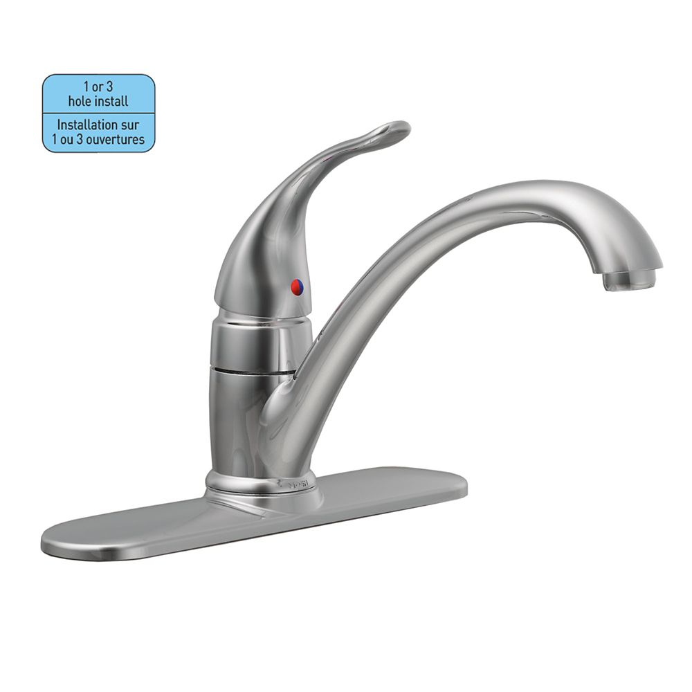 sprayer hole kitchen faucet handle side with single