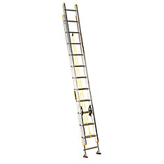 aluminum extension ladder 24 Feet  grade I