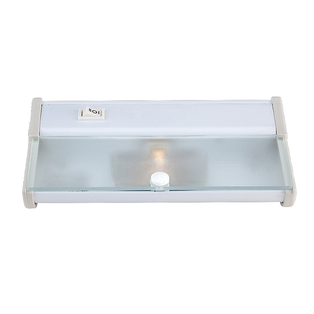 White Under-Cabinet Light with Frosted Tempered UV Shield