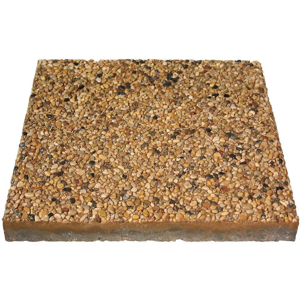 Pebblestone, Square Dynasty Slab - 16 Inch x 16 Inch