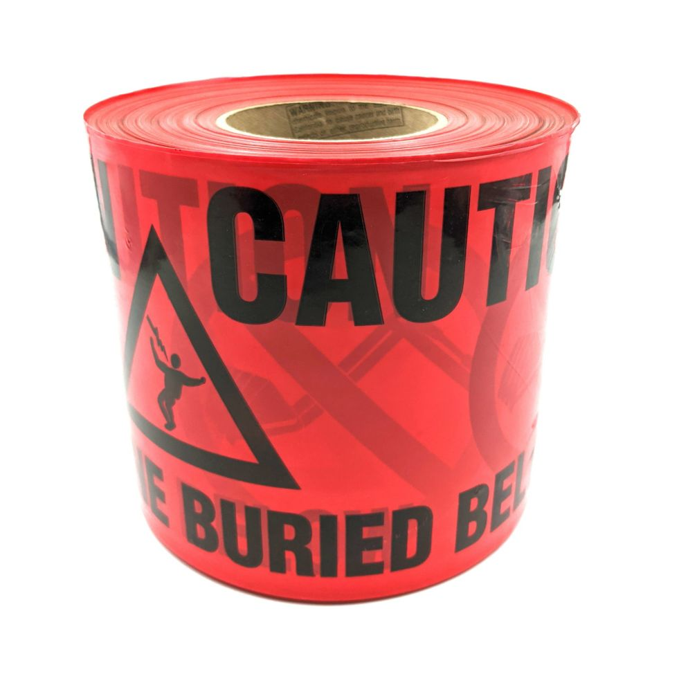 Red Caution Tape 6 In. x 305m