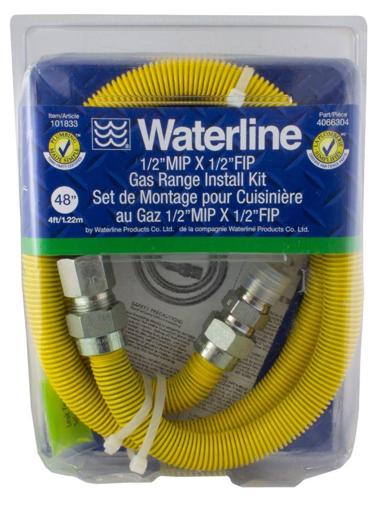 ½ MIP X ½ FIP Gas Range Install Kit