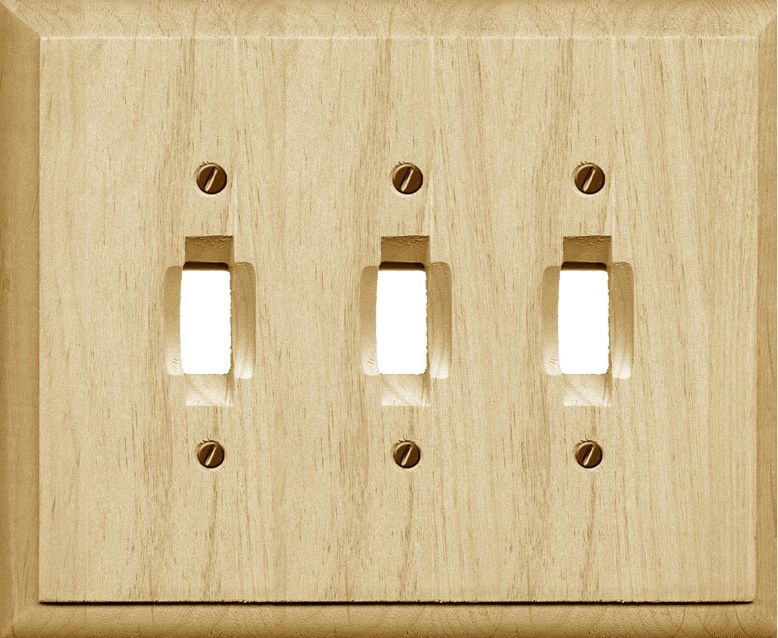 Atron Traditional Unfinished Wood Triple Toggle