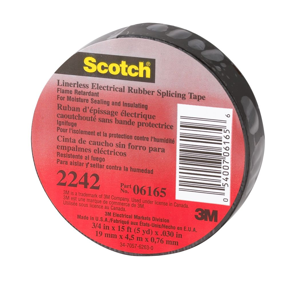 Scotch 2242 Linerless Electrical Rubber Splicing Tape