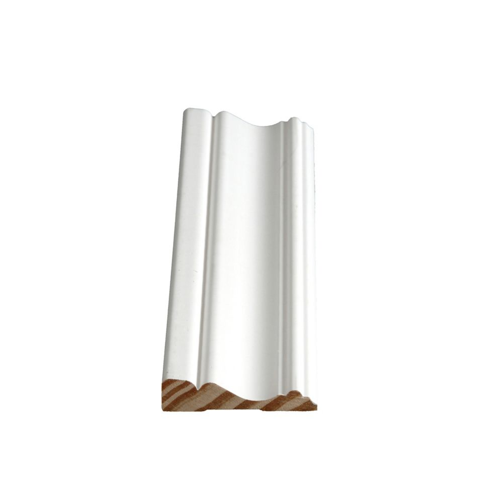Alexandria Moulding Primed Finger Jointed Pine Colonial Casing 5/8 In. x 2-1/2 In. (Price per linear foot)