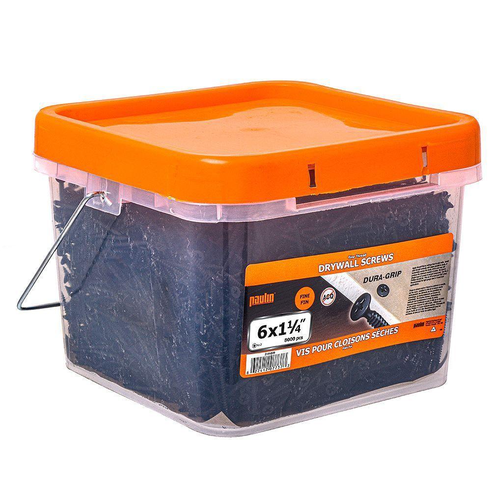 6x1 1/4 Fine Thread Drywall Screws