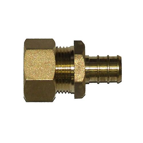 Pex Brass Fittings 1/2 Inch Nominal Compression X 1/2 Inch Pex ...