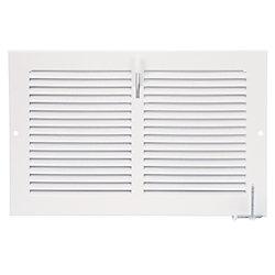 HDX 10 inch x 6 inch Sidewall Register - White