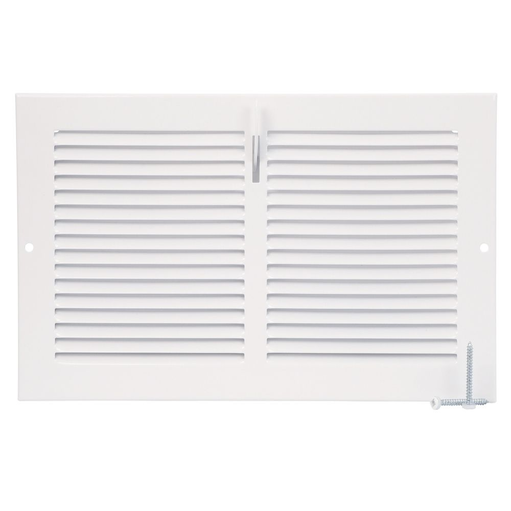 10  x 6  Sidewall Register - White
