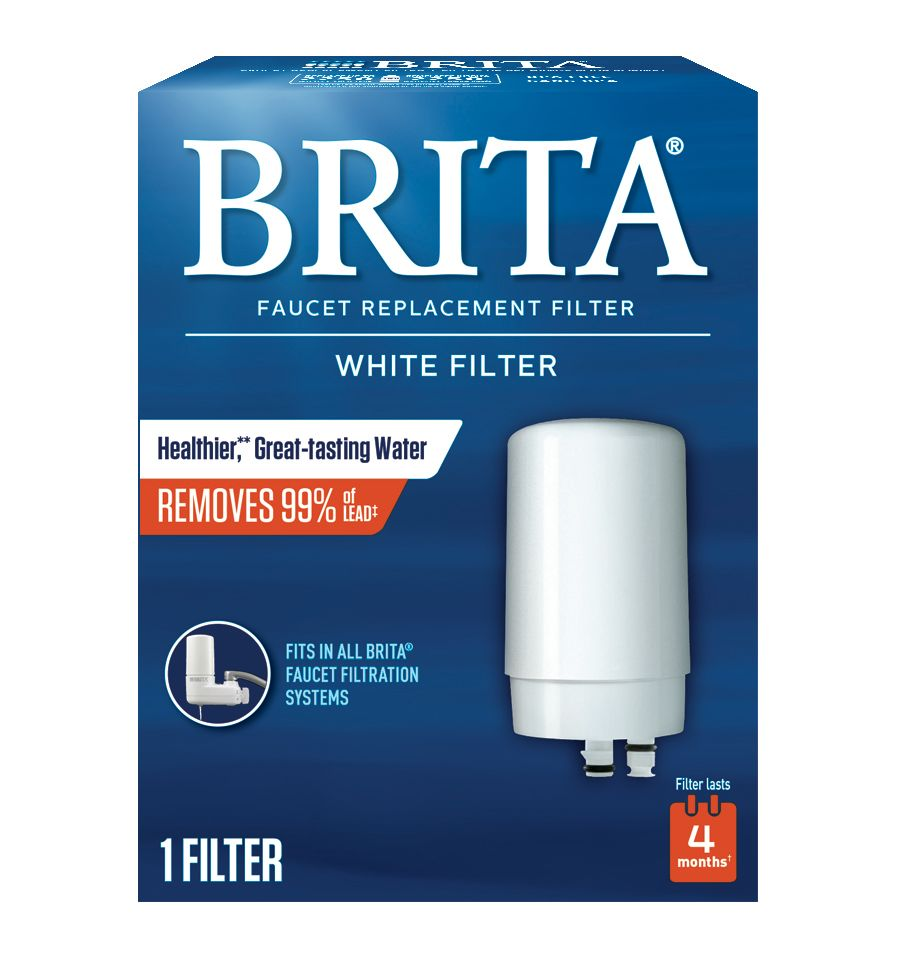 Brita White Faucet Filtration Replacement Filter