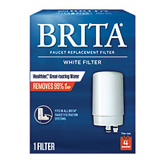 White Faucet Filtration Replacement Filter