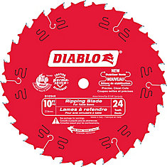 10 In. Diablo Ripping Blade - 24 Teeth