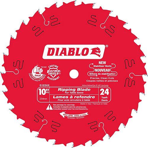 Freud 10 In. Diablo Ripping Blade - 24 Teeth
