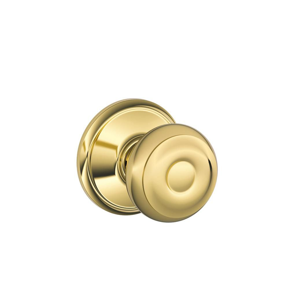 Orbit Bright Brass Non-Locking Hall and Closet Door Knob