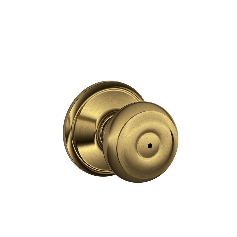 Serrure chambre et salle de bain « Georgian » avec bouton en laiton antique