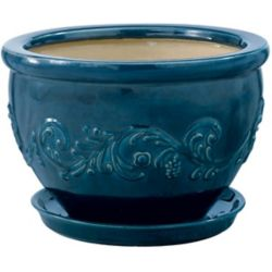 New England Pottery 17.7 cm Pot a Guirlandes Pacifica