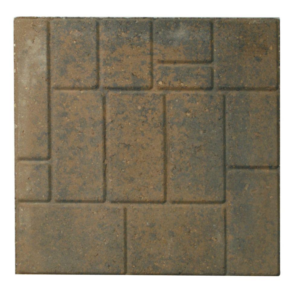 Patio Slab - 18x18 - Cobbleface Tan/Charcoal