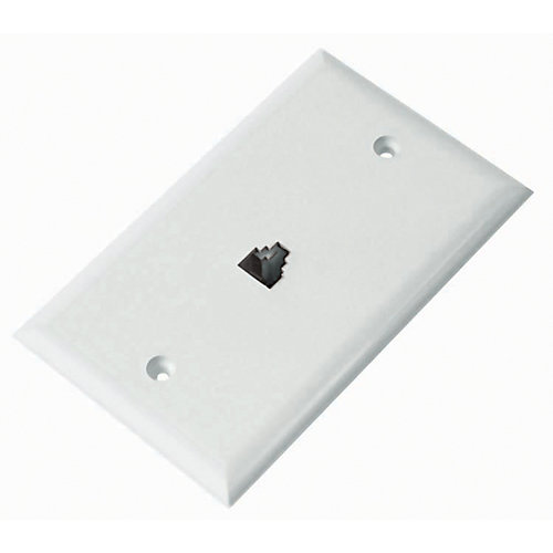 6 Conductor Mod.Wall Outlet White