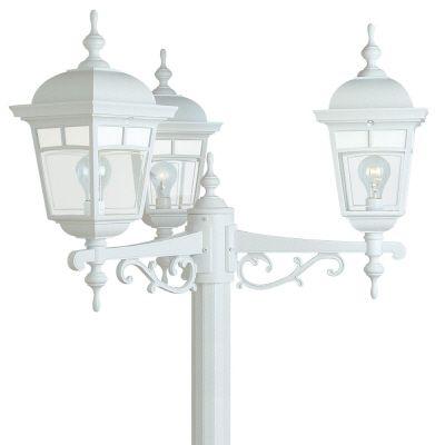 Imagine, tête multiple,  panneaux de verre aux motifs givrés, blanc (poteau non-inclus)