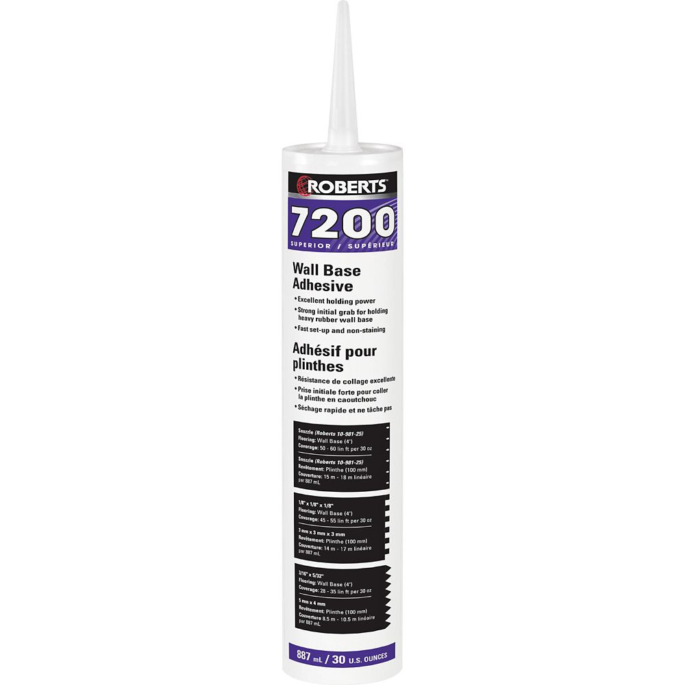 Roberts 7200, 887mL Wall Base Adhesive, Superior Grade, in Caulking Tube