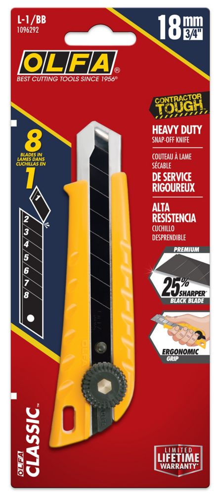 Olfa Heavy Duty Cutter Utility Knife with Snap-Off Blade