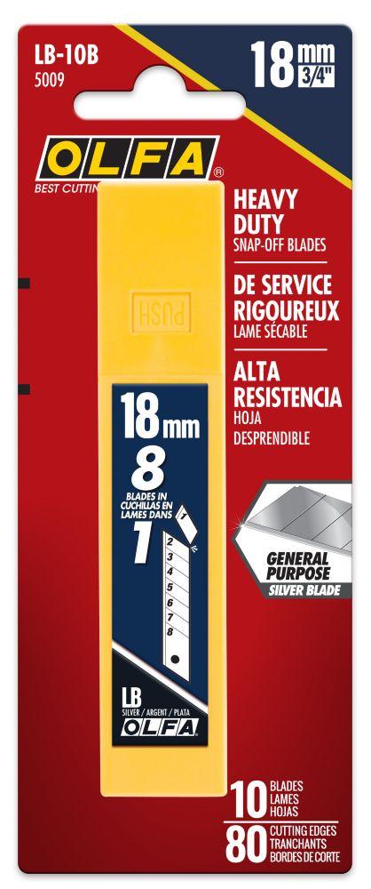 Olfa 10-Pack Heavy Duty Blades