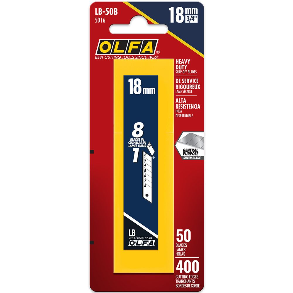 Olfa Heavy Duty Snap-off Replacement Blades - 50/Pk
