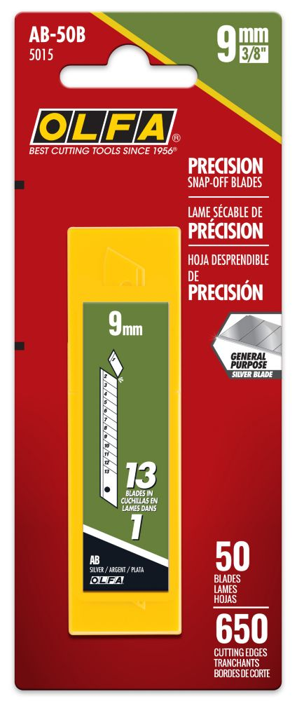 9 mm Snap-Off Blades - 50 Pack 5015 Canada Discount