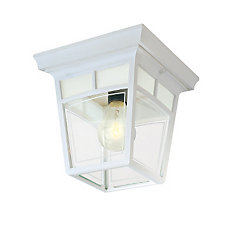 Imagine Series, White with Frosted Pattern Glass Panels, Ceiling Mount